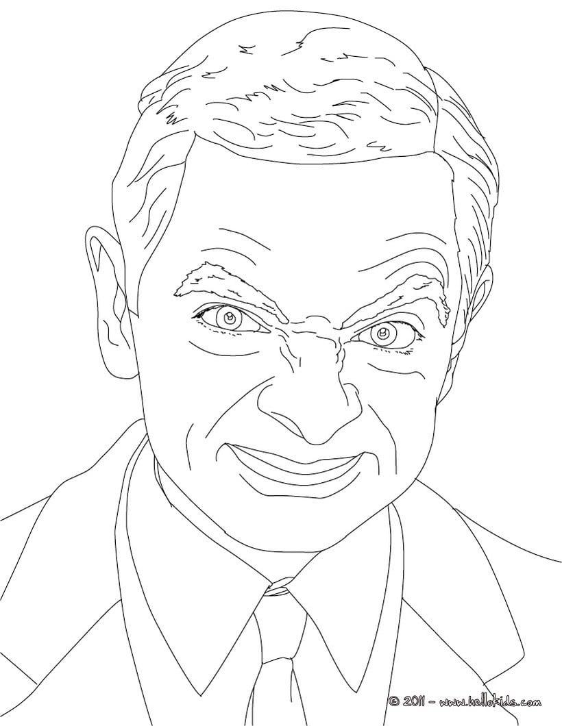 Desenhos Para Colorir De Desenho Da Mr Bean Para Colorir