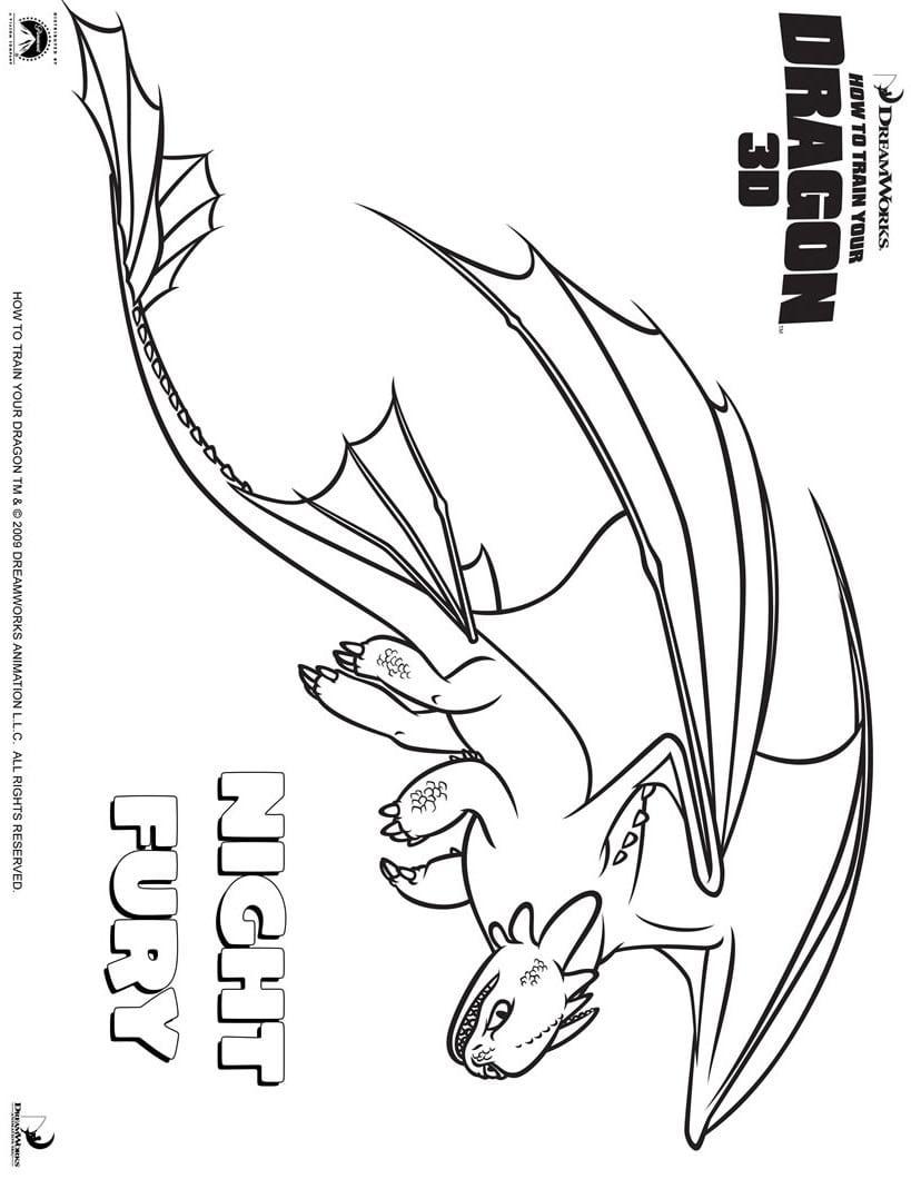Desenhos Para Colorir De Desenho Do Dragão Banguela Para Colorir
