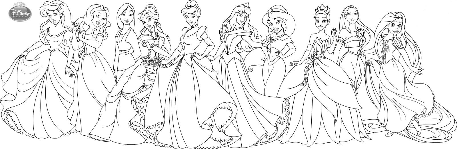 Pintar As Princesas Da Disney