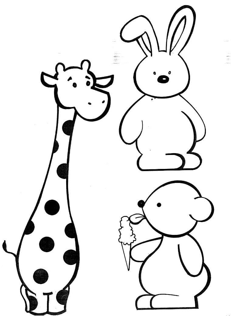 Desenhos Para Pintar  Pintar Animais Fofos Colorir Animais Fofos