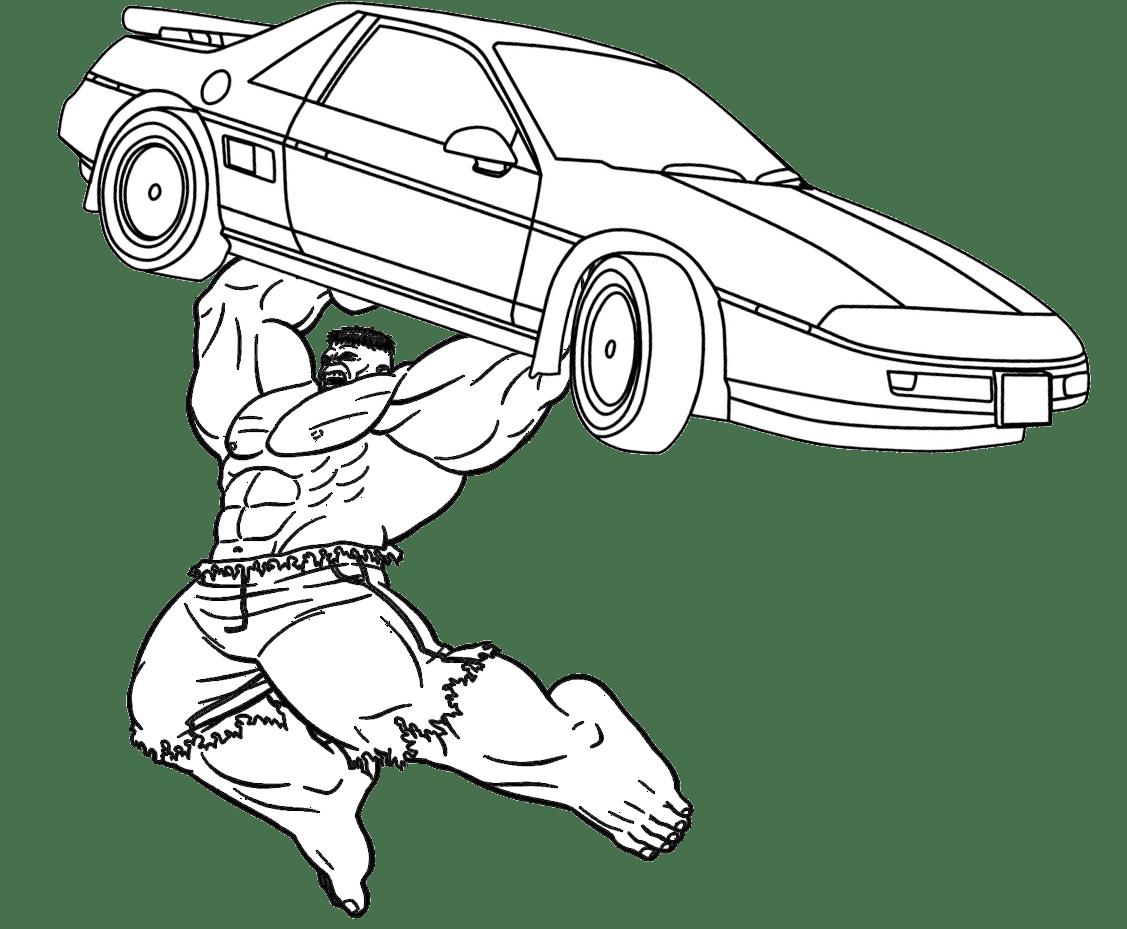 Desenho Para Pintar Do Hulk