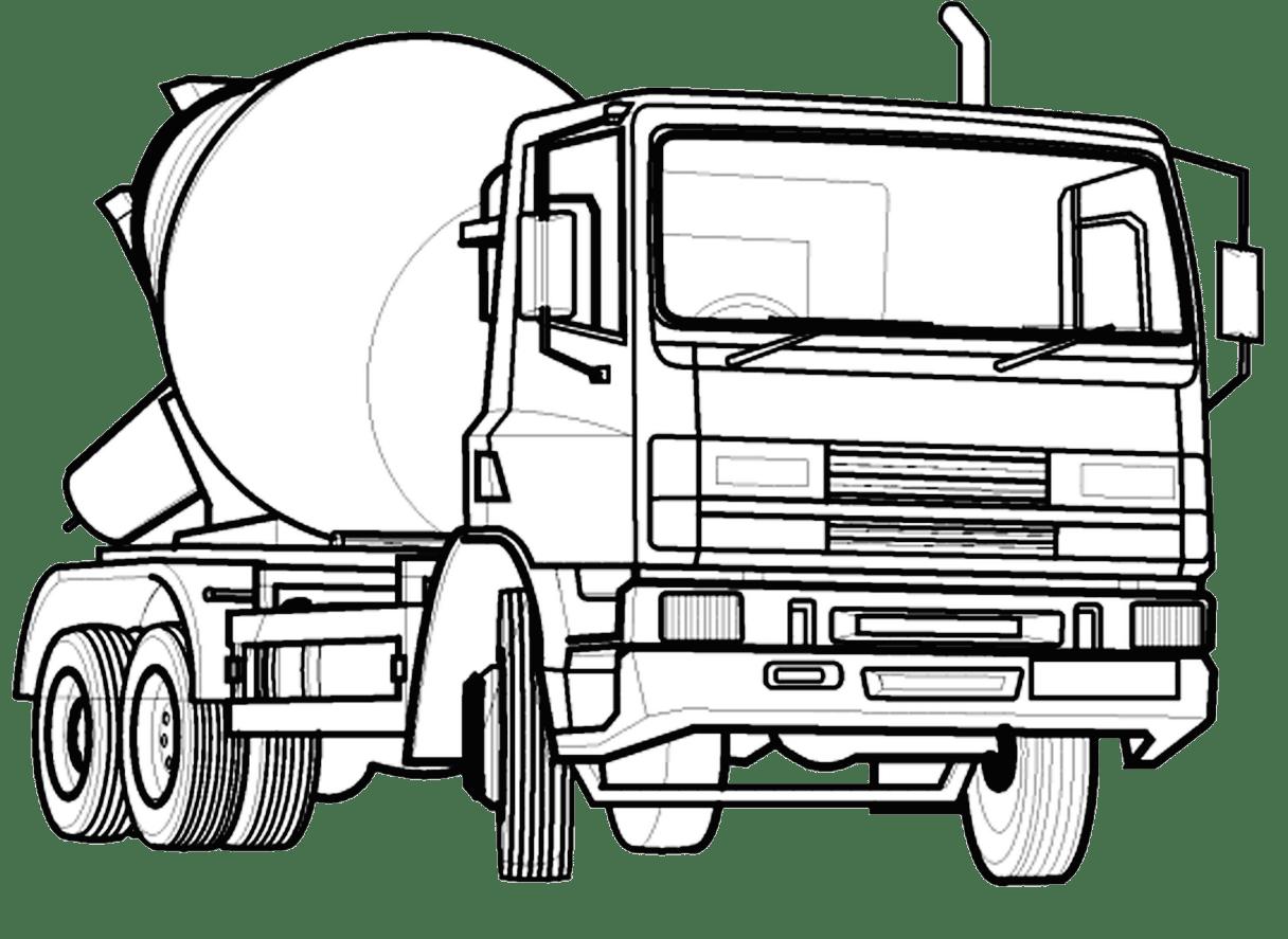 Jogo Pinte O Caminhão De Concreto