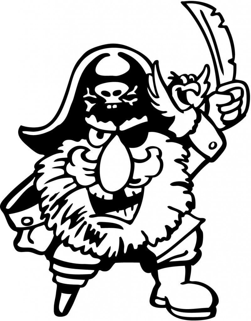 Desenhos Para Pintar De Piratas  Desenhos De Piratas