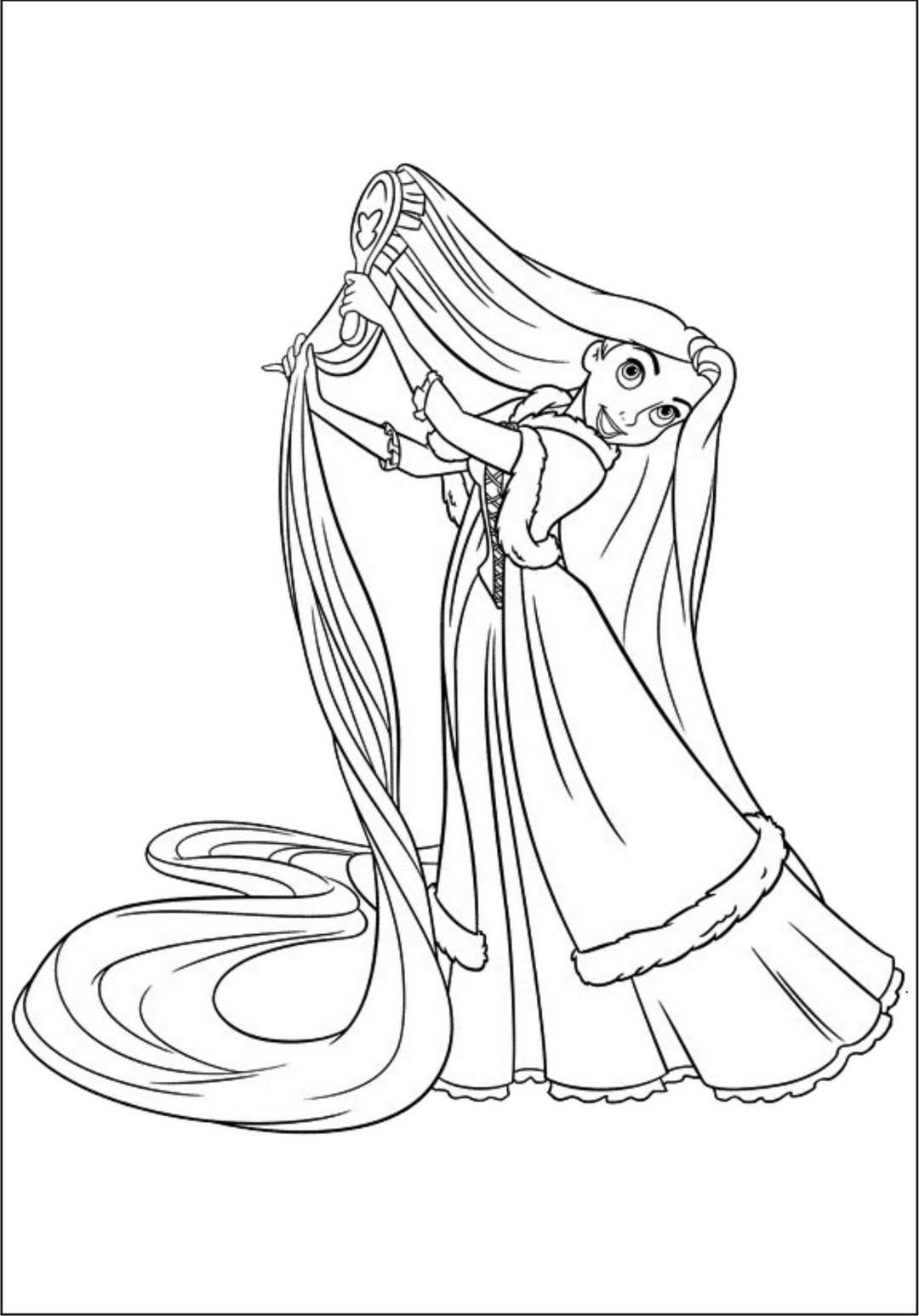 Brinquedos De Papel  Princesa Rapunzel Para Colorir