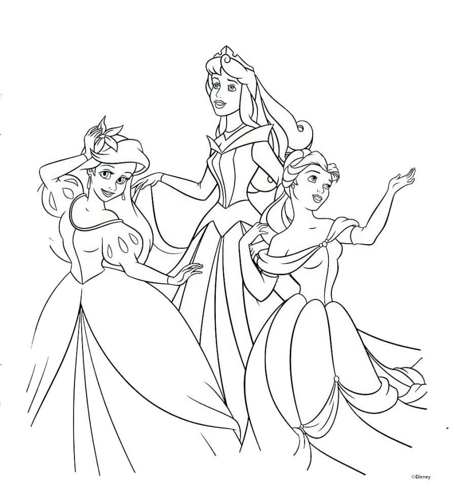 Desenhos Das Princesas Disney Para Pintar, Colorir, Imprimir Ou