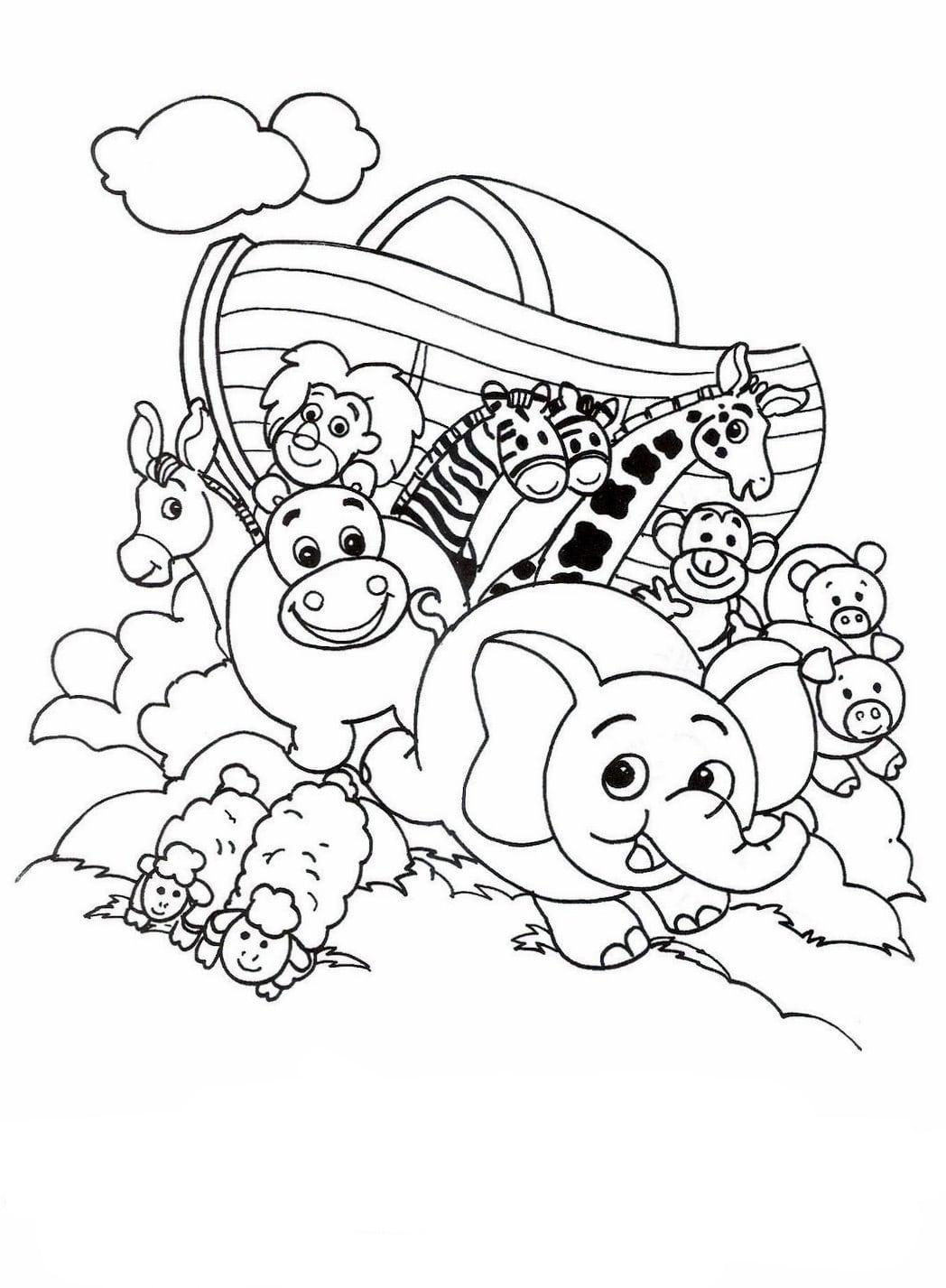 Desenhos De Arca De Noé Para Colorir