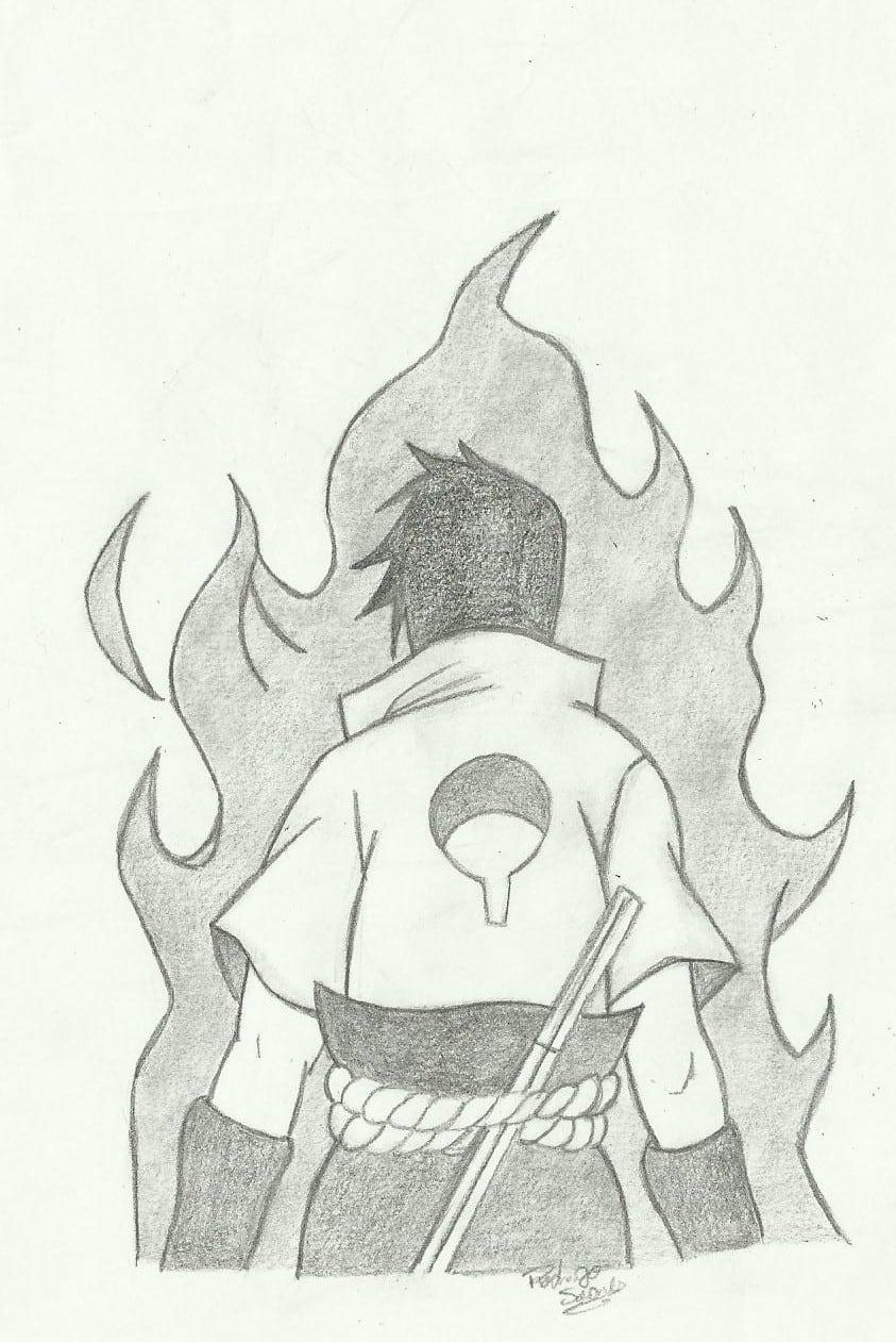 Desenhos Do Rodrigo  Sasuke Uchiha