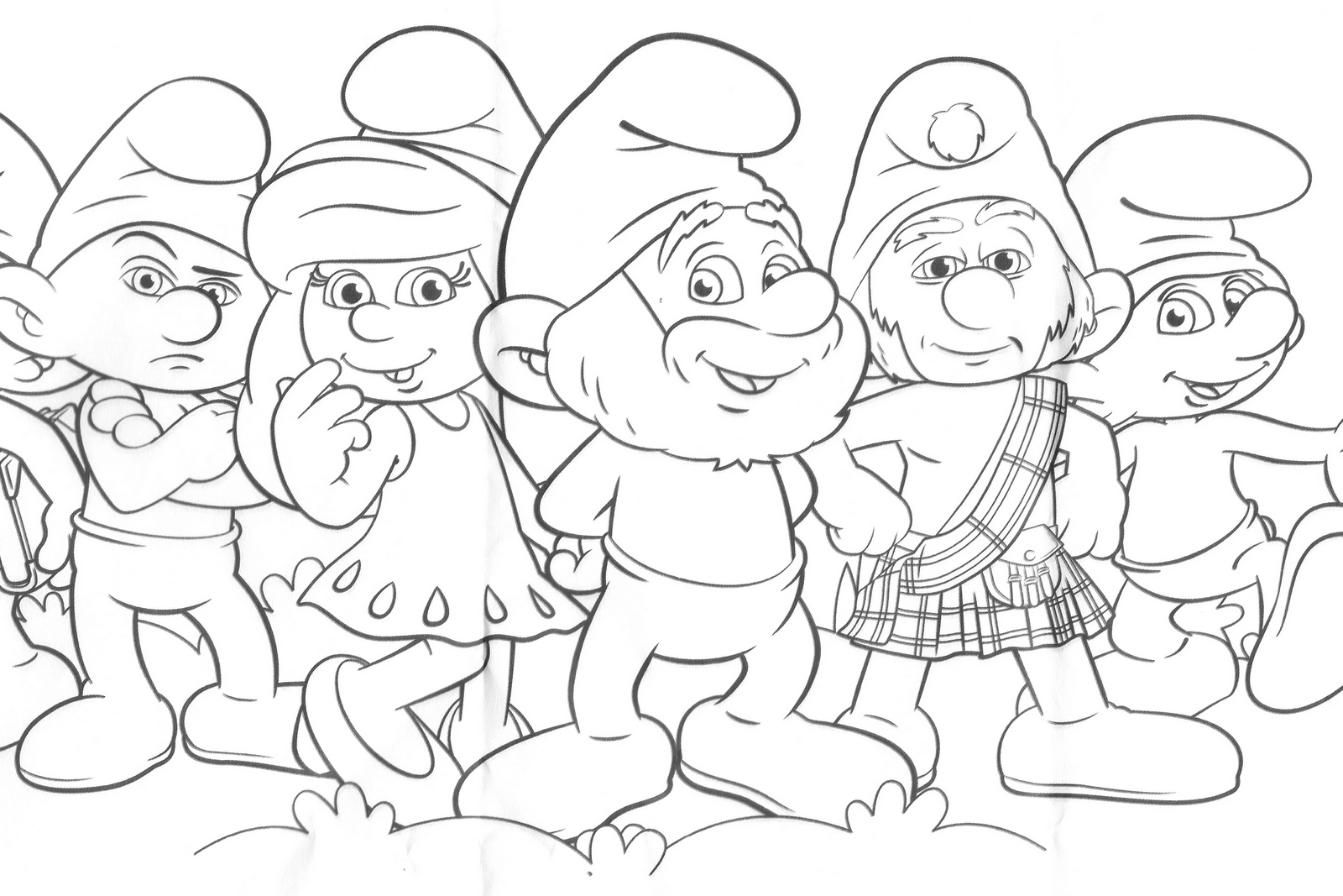 The Smurfs Smurfette Catapillar On Finger Coloring Page 2