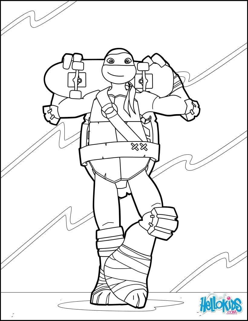 Desenhos Para Colorir De Tartaruga Ninja