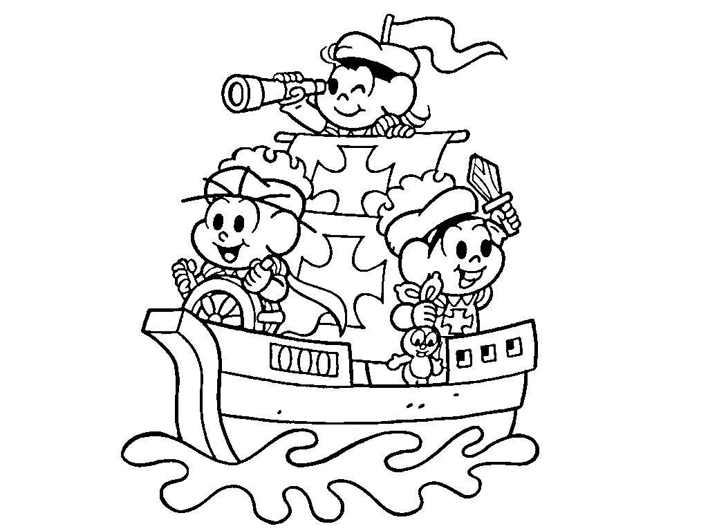 Desenho De Turma Da Monica E O Descobrimento Do Brasil Para