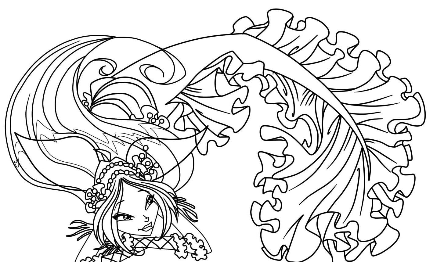 Desenhos Para Colorir E Imprimir  Desenhos Para Colorir Das Winx
