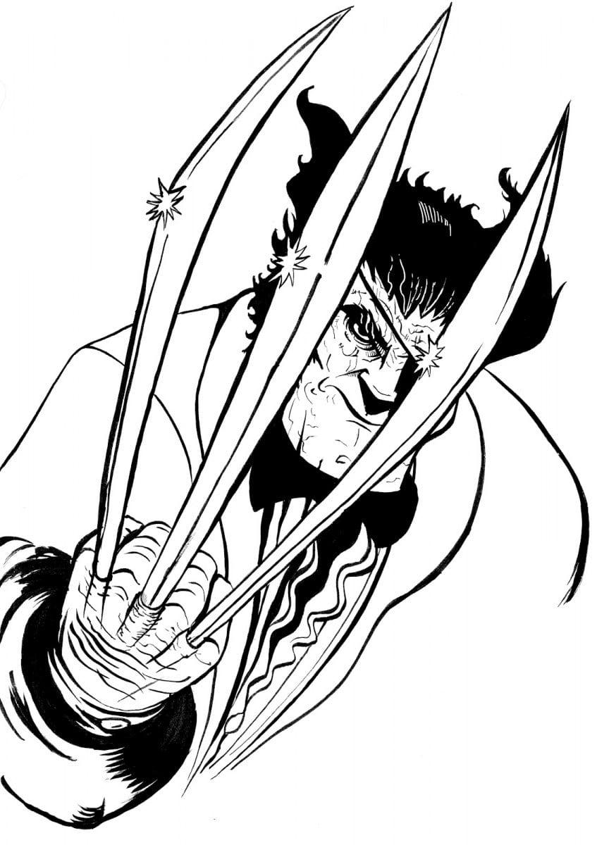 Desenhos Para Pintar Do Wolverine  Desenhos Para Colorir Do Wolverine