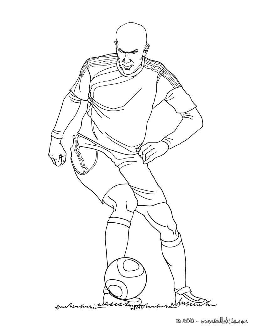 Desenhos Para Colorir De Zidane