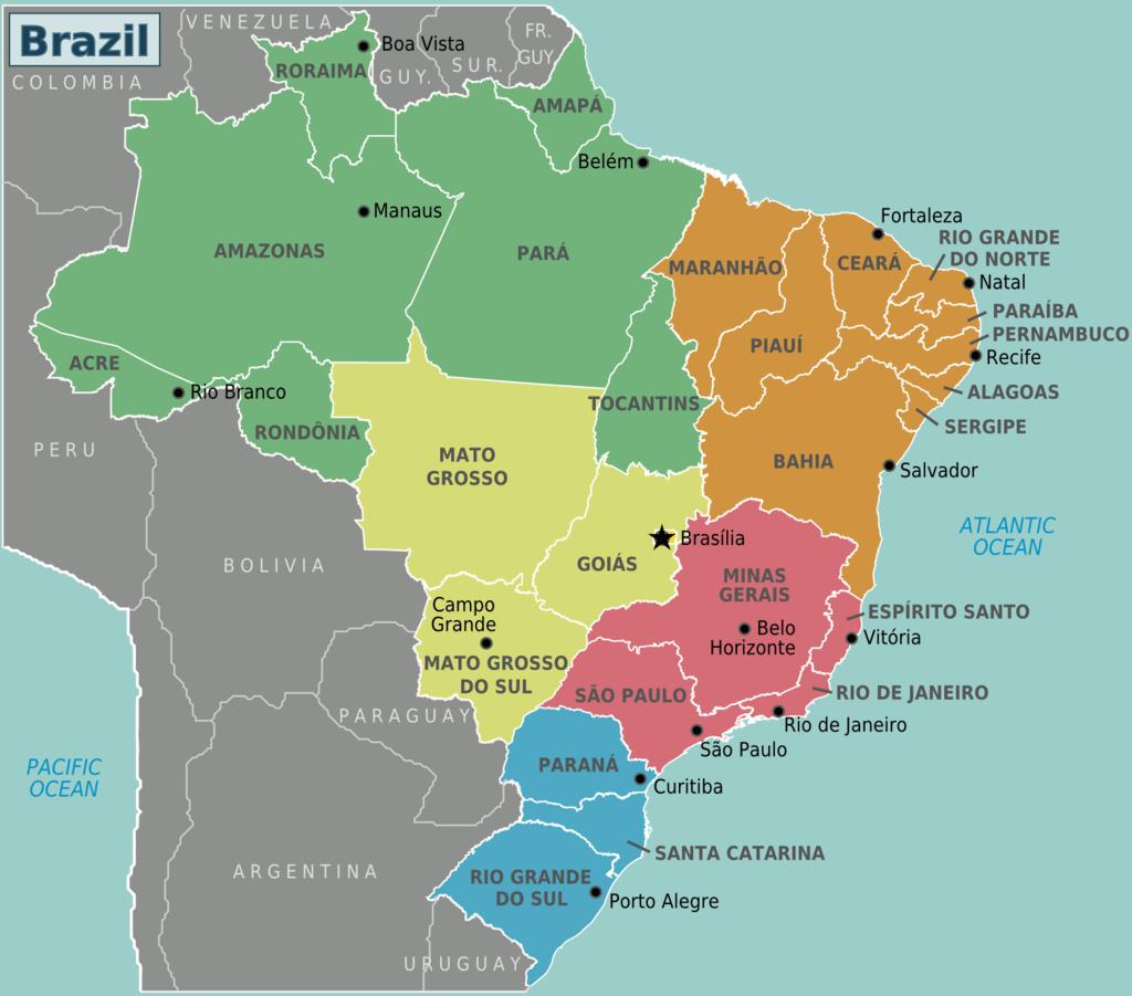Capitais Brasileiras  Lista Completa Por Estado E Região