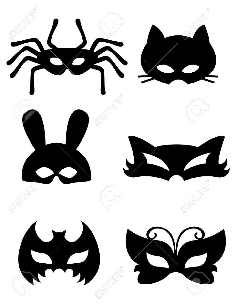 Colección De Máscaras De Animales Con Caras De Animales  Lista