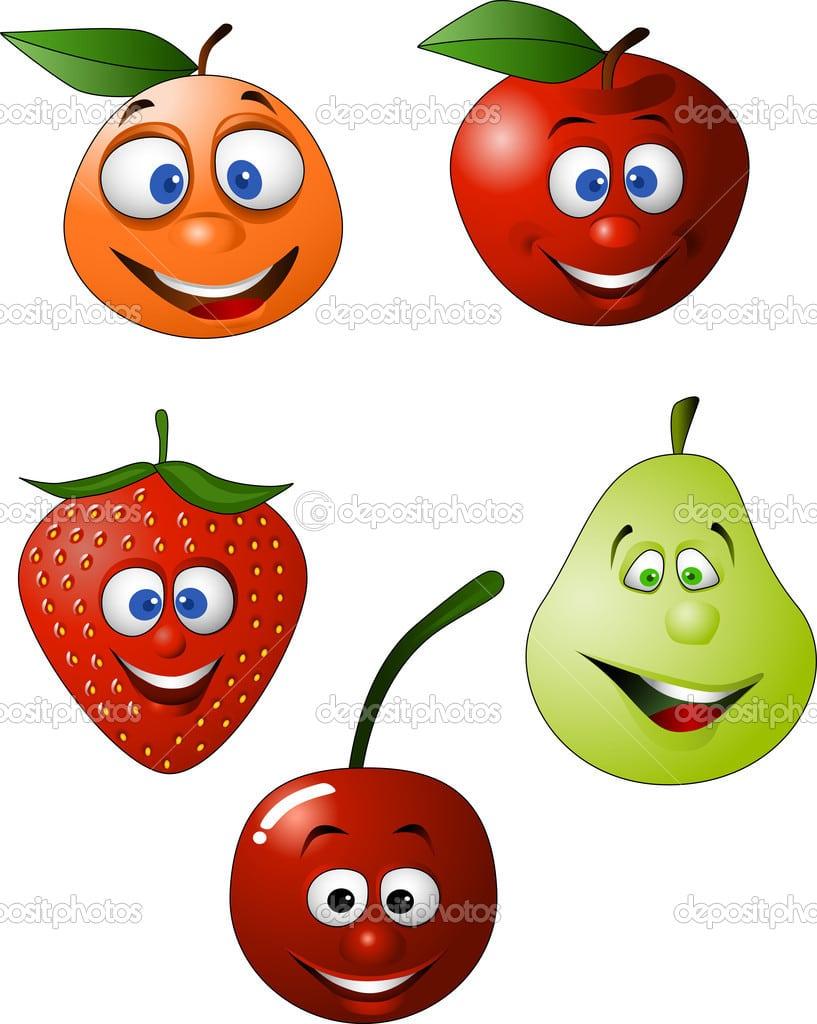 Desenhos Coloridos De Frutas Para Imprimir