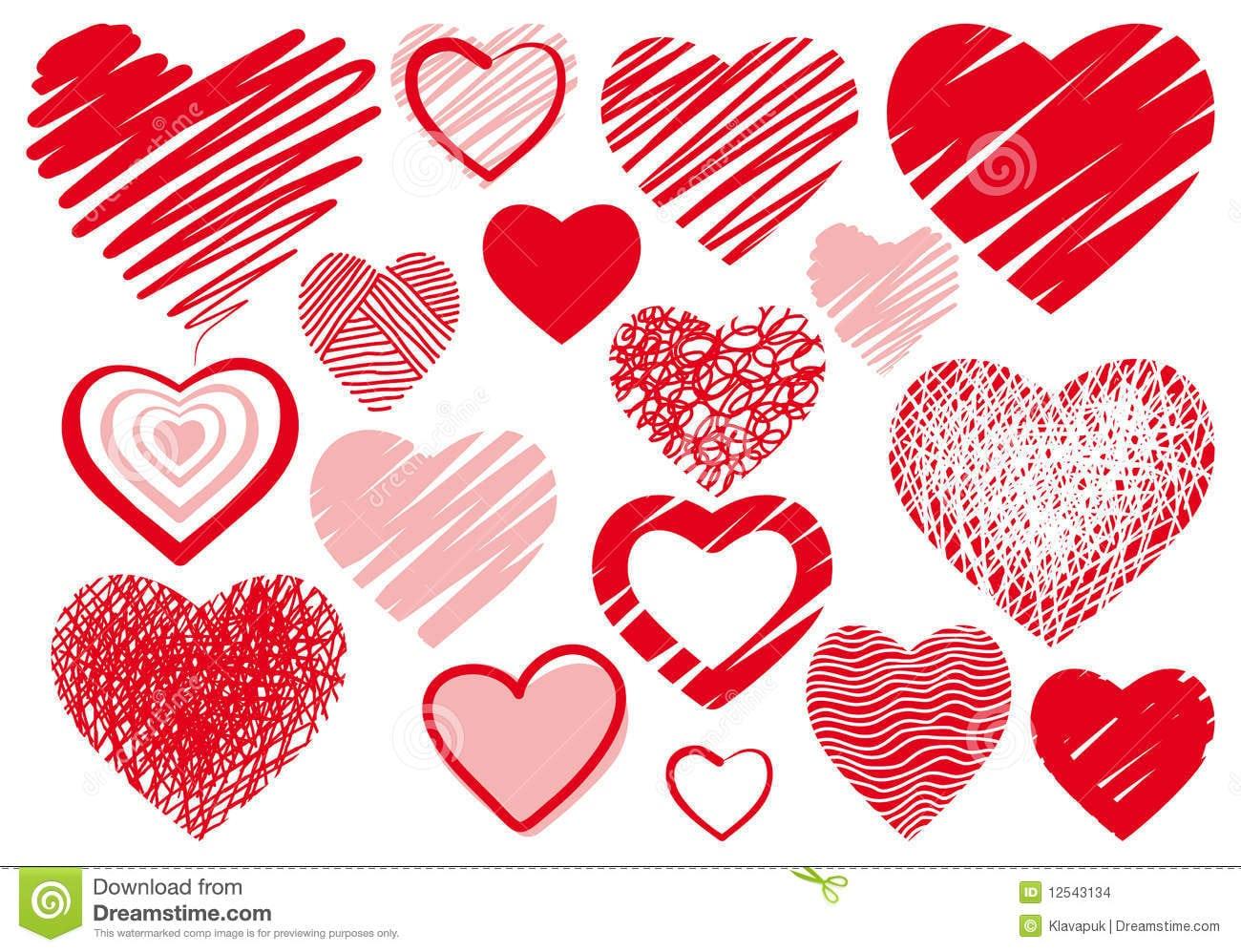 Desenho Do Coração Foto De Stock Royalty Free