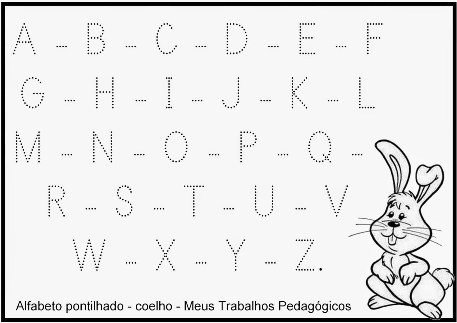 Meus Trabalhos Pedagógicos ®  Alfabeto Pontilhado