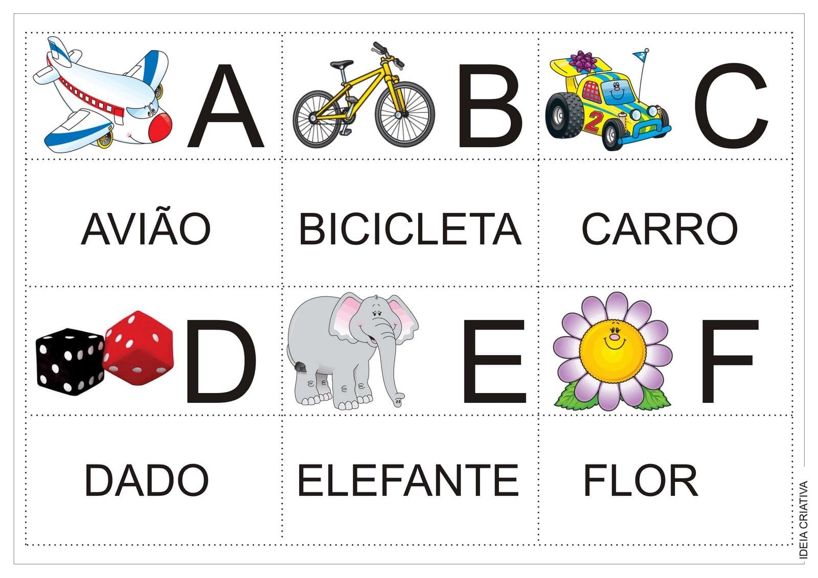 Alfabeto Jogo Da Memória Colorido Para Recorte Após Impressão