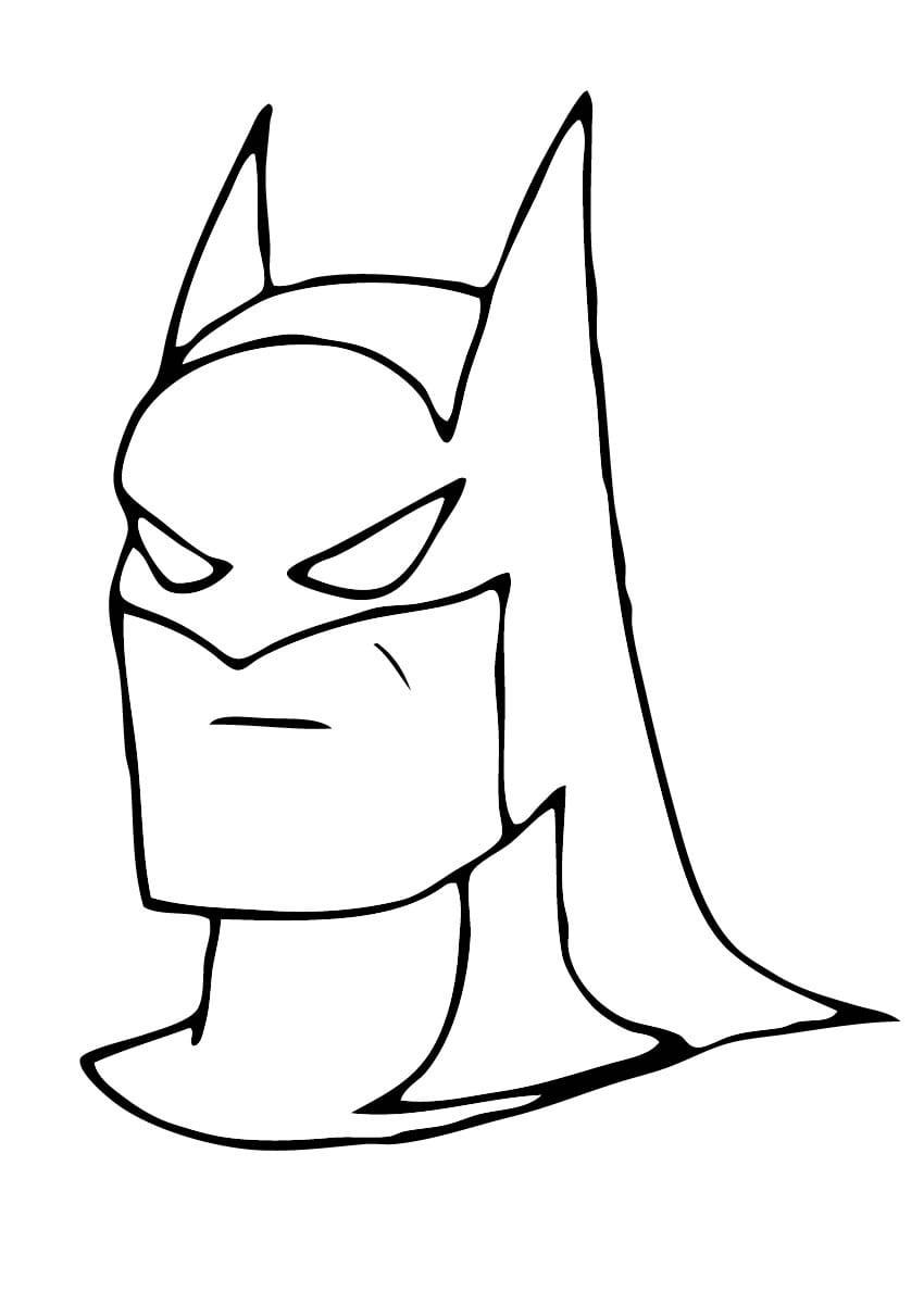 Batman Mascara Colorir