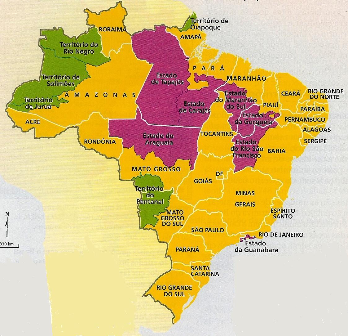 Brasil  Dimensões, Situação Geográfica, Regionalização E Sistema