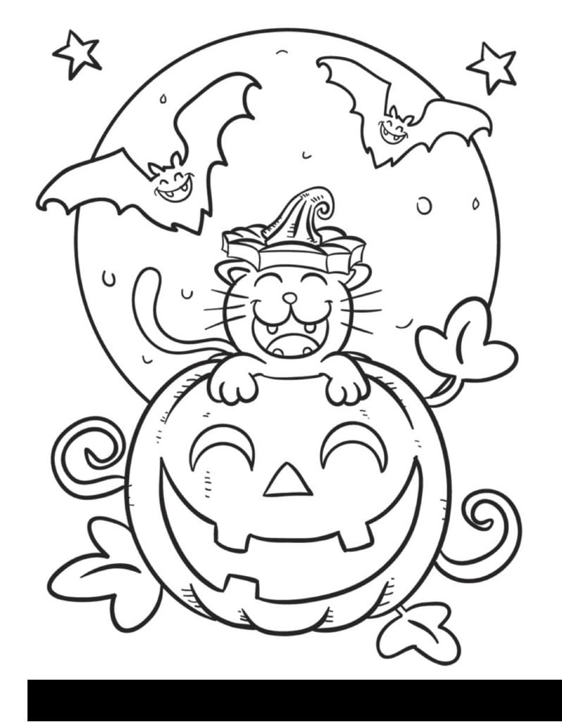 Halloween Coloring Pages For 3rd Graders