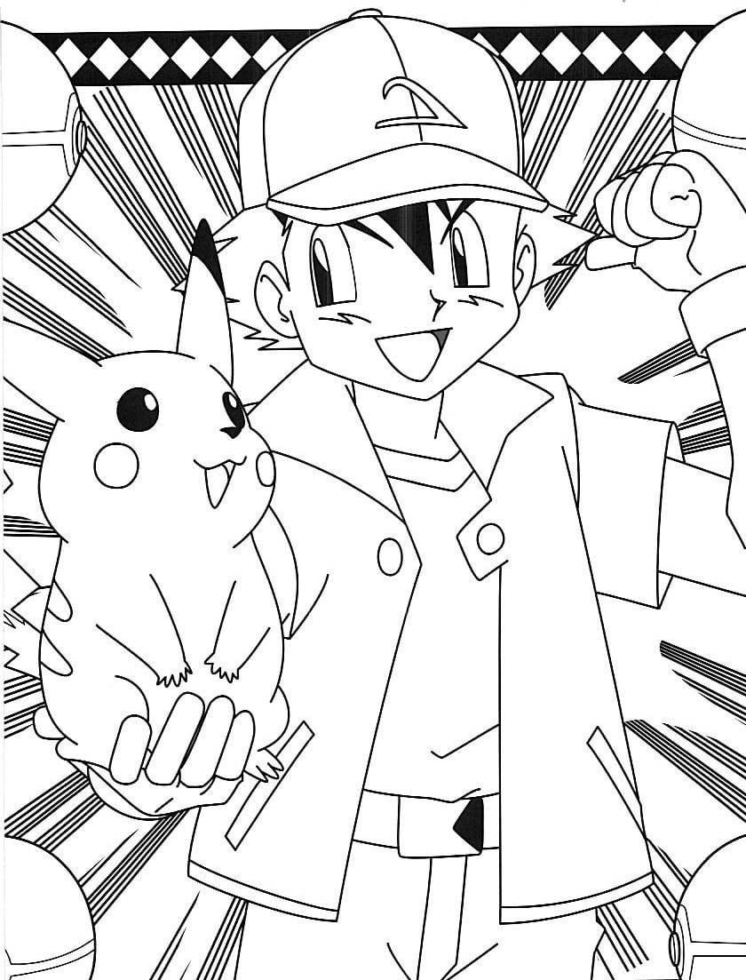 Pokemon Desenhos Para Pintar Colorir E Imprimir Do Pikachu