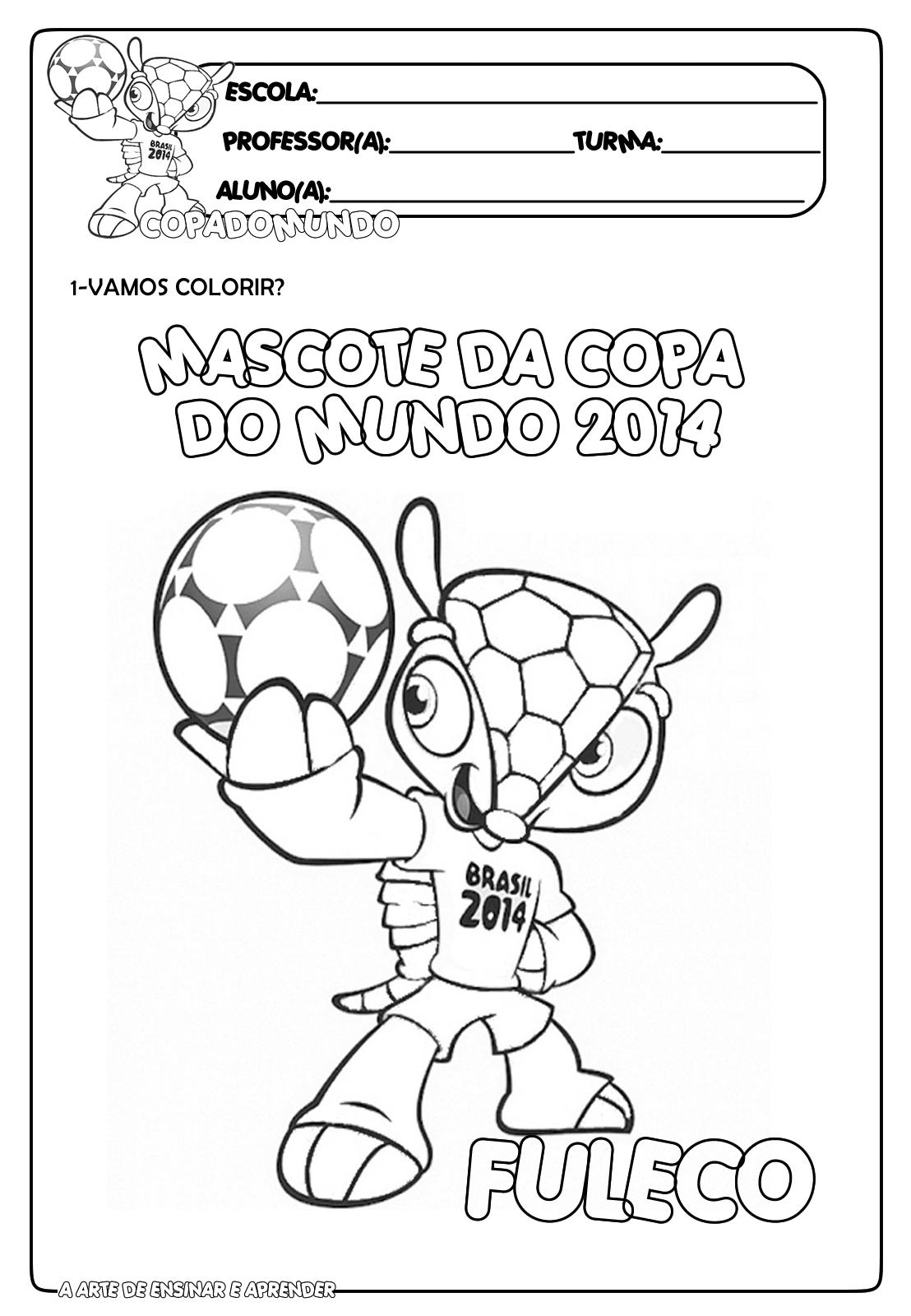E M  Vereador Carlos Pereira Neto  Mascote Da Copa 2014