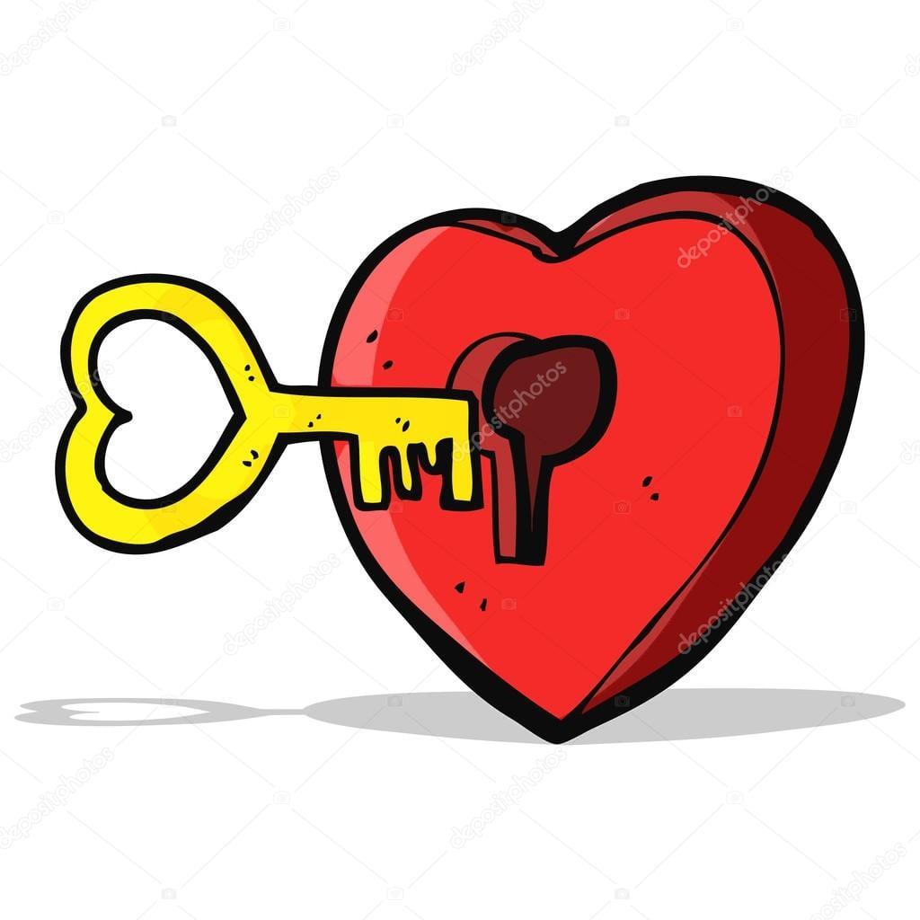 Desenho De Coração Com Chave — Vetores De Stock © Lineartestpilot
