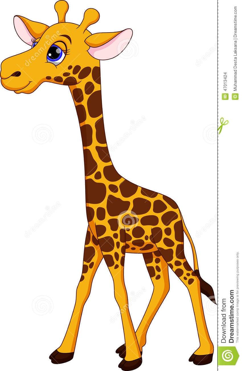 Desenhos Animados Bonitos Do Girafa Ilustração Stock