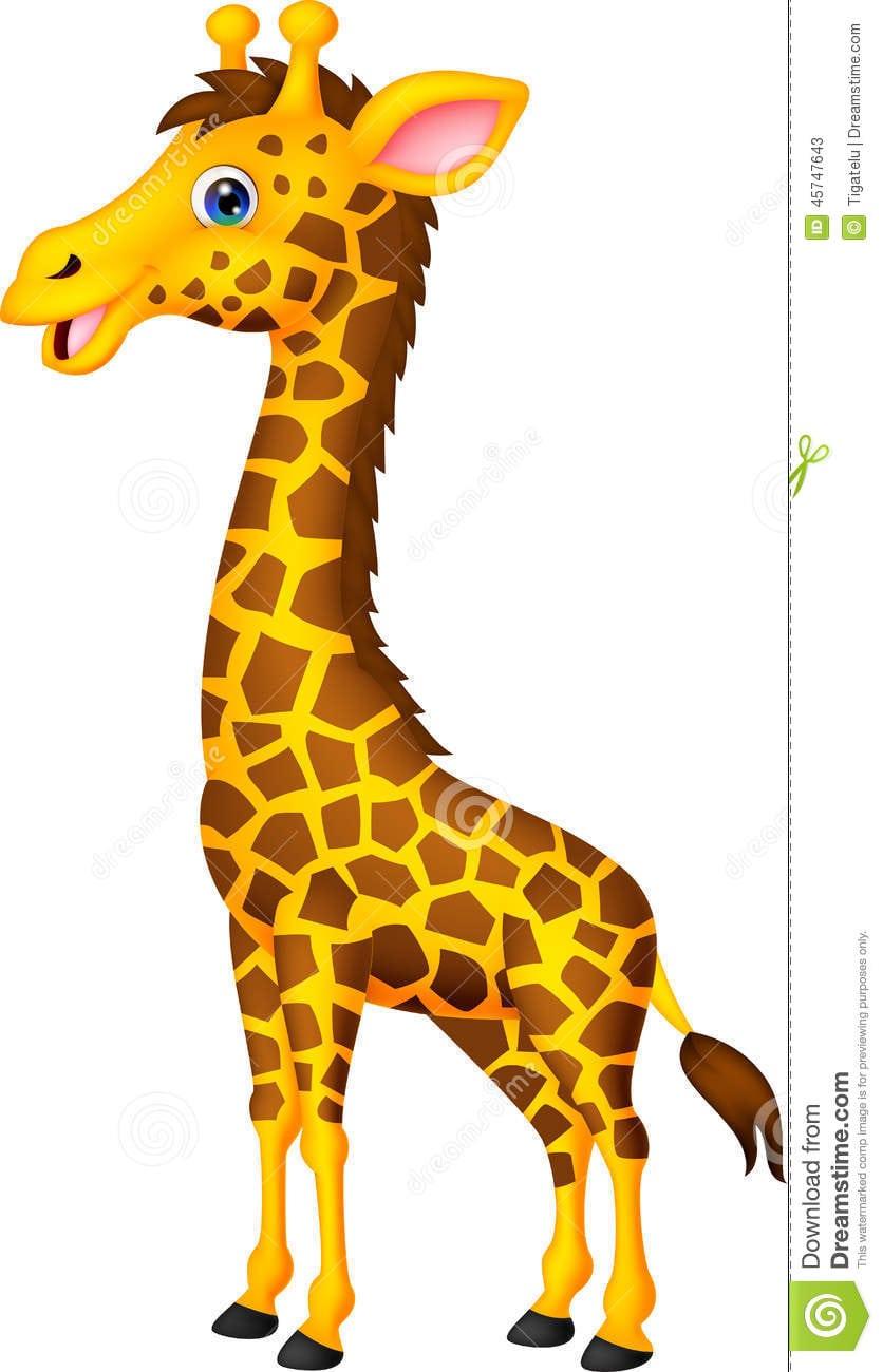 Desenhos Animados Do Girafa Ilustração Do Vetor