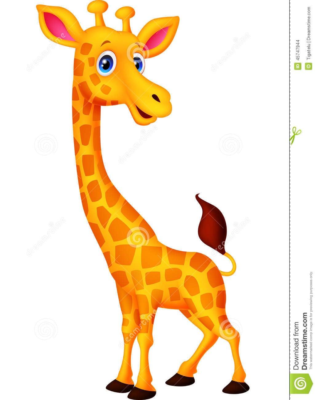 Desenhos Animados Felizes Do Girafa Ilustração Do Vetor