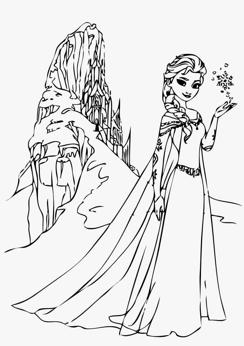 Jogo Desenhos De Elsa Frozen Para Colorir No Jogos Online Wx