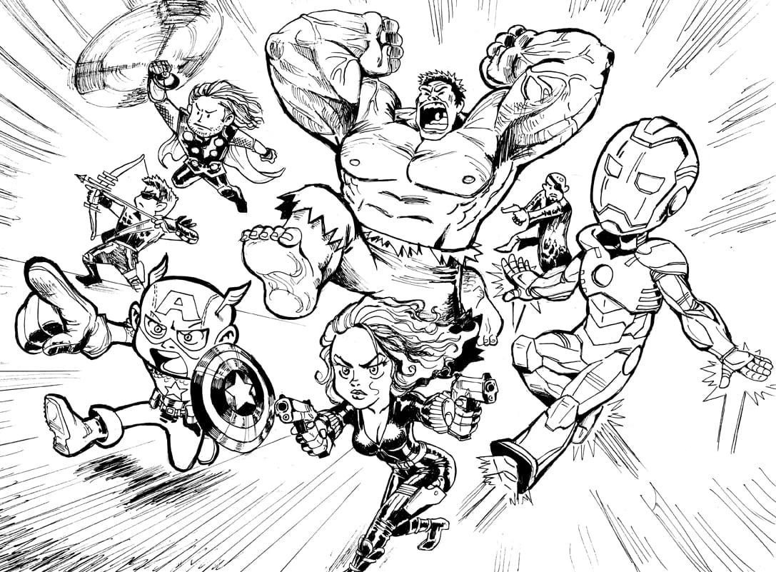 Desenhos Para Imprimir Dos Vingadores