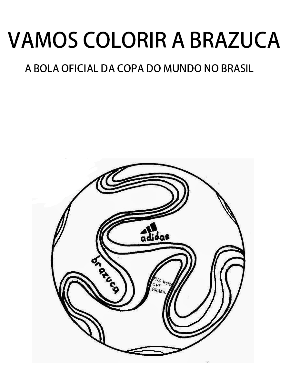 Clube Da Cor Atividades Escolares   Copa Do Mundo 2014 Desenhos Do