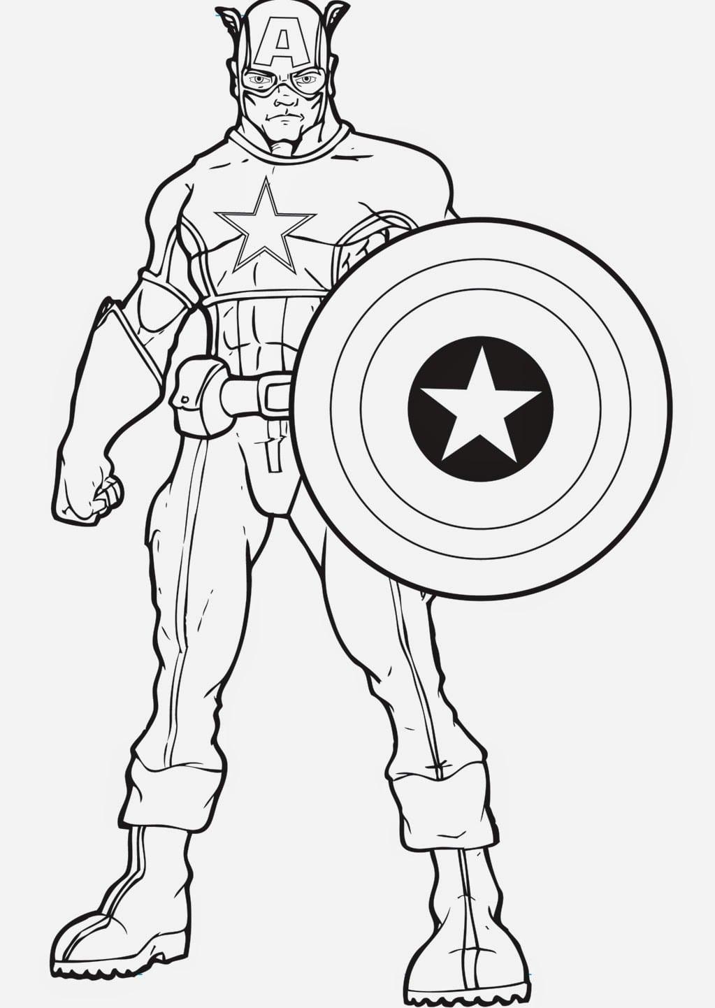 Capitão America Para Colorir