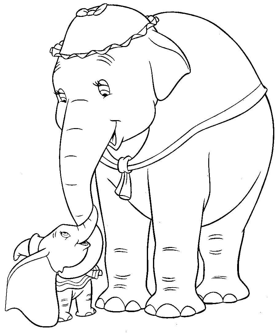 Desenhos Para Pintar Do Dumbo  Desenhos Para Colorir Do Dumbo
