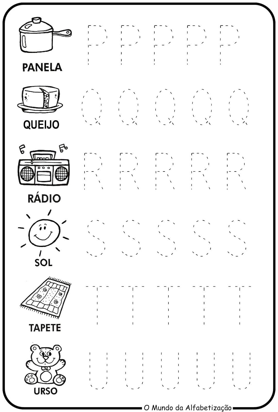 Atividades Com Letras Cursivas