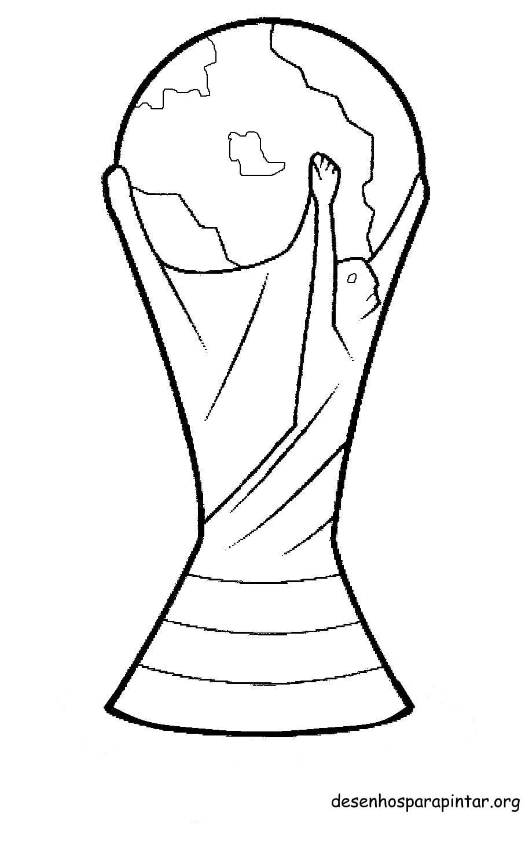 Símbolos E Taça Da Copa 2014 – Desenhos Para Imprimir Colorir E