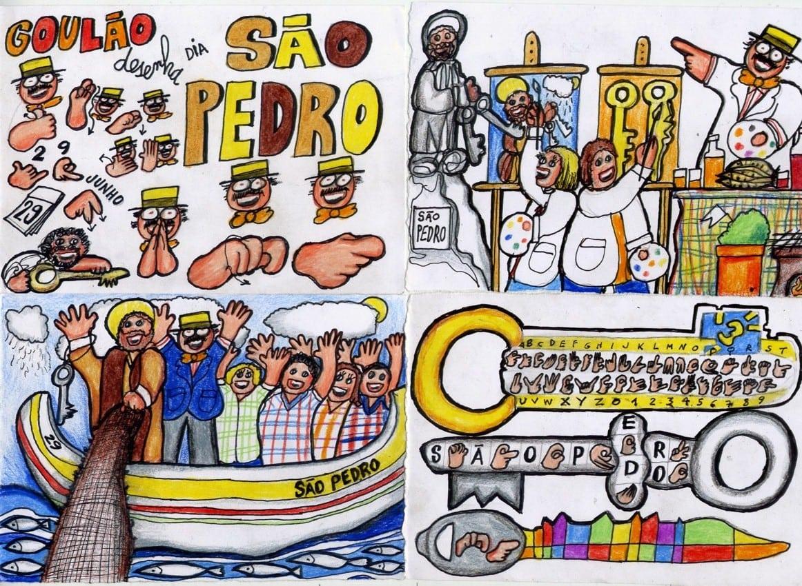 Professor Surdo Francisco Goulão   Surdo    GoulÃo Desenha Dia De