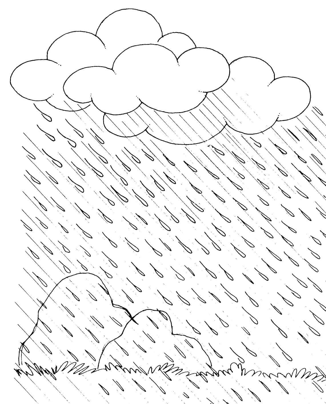 Escola Dominical Infantil  Atividade Para Colorir  Chuva, Nuvem E