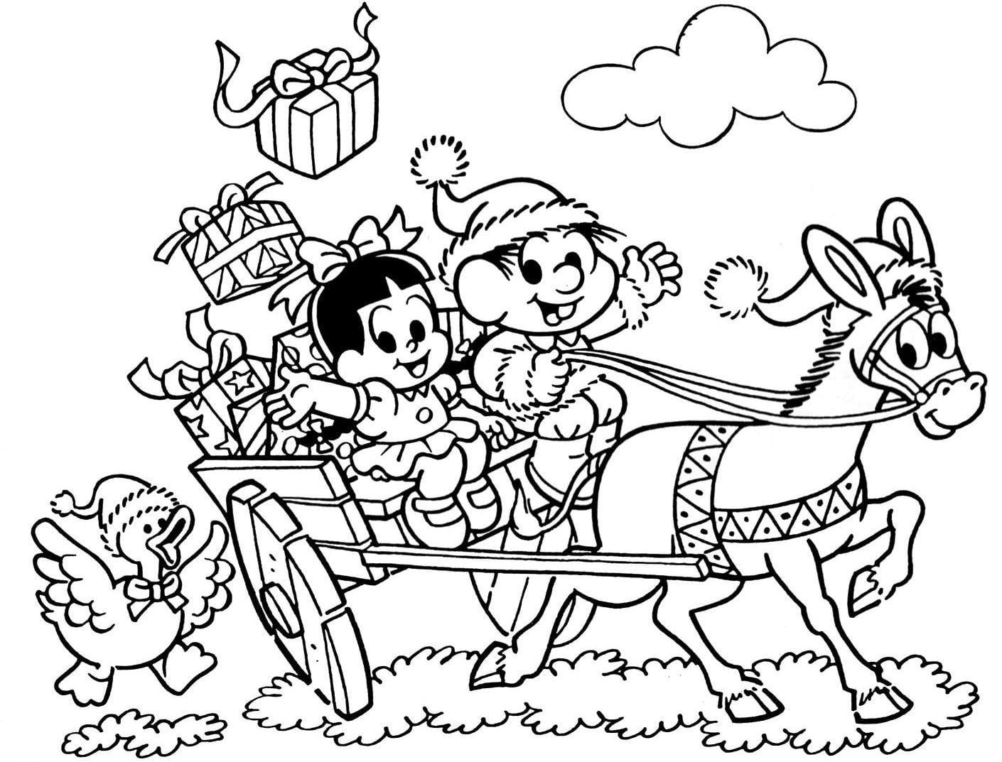 Bibi E Pedrinho  Natal Turma Da Mônica