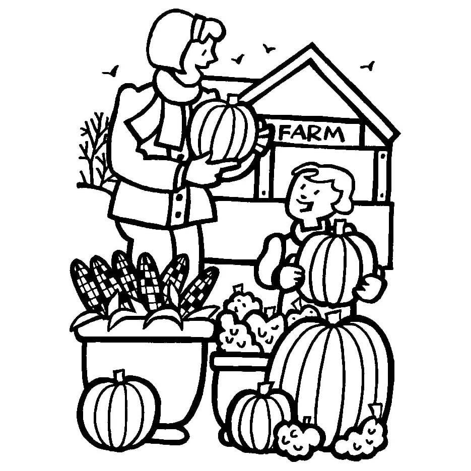 Desenho De Legumes Na Fazenda Para Colorir