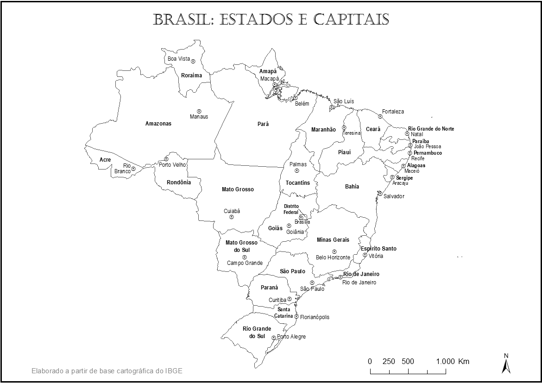 Mapa Do Brasil Imprimir