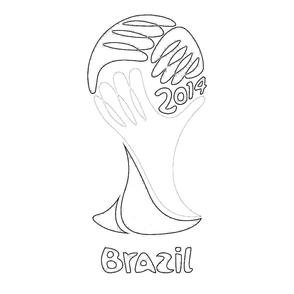 Ideia Bem Bacana  Mascote Copa Do Mundo 2014 Para Colorir