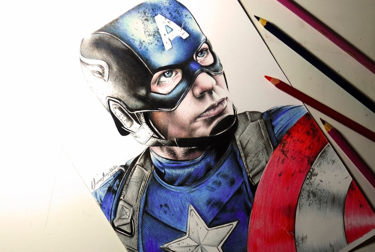 Drawing Captain America