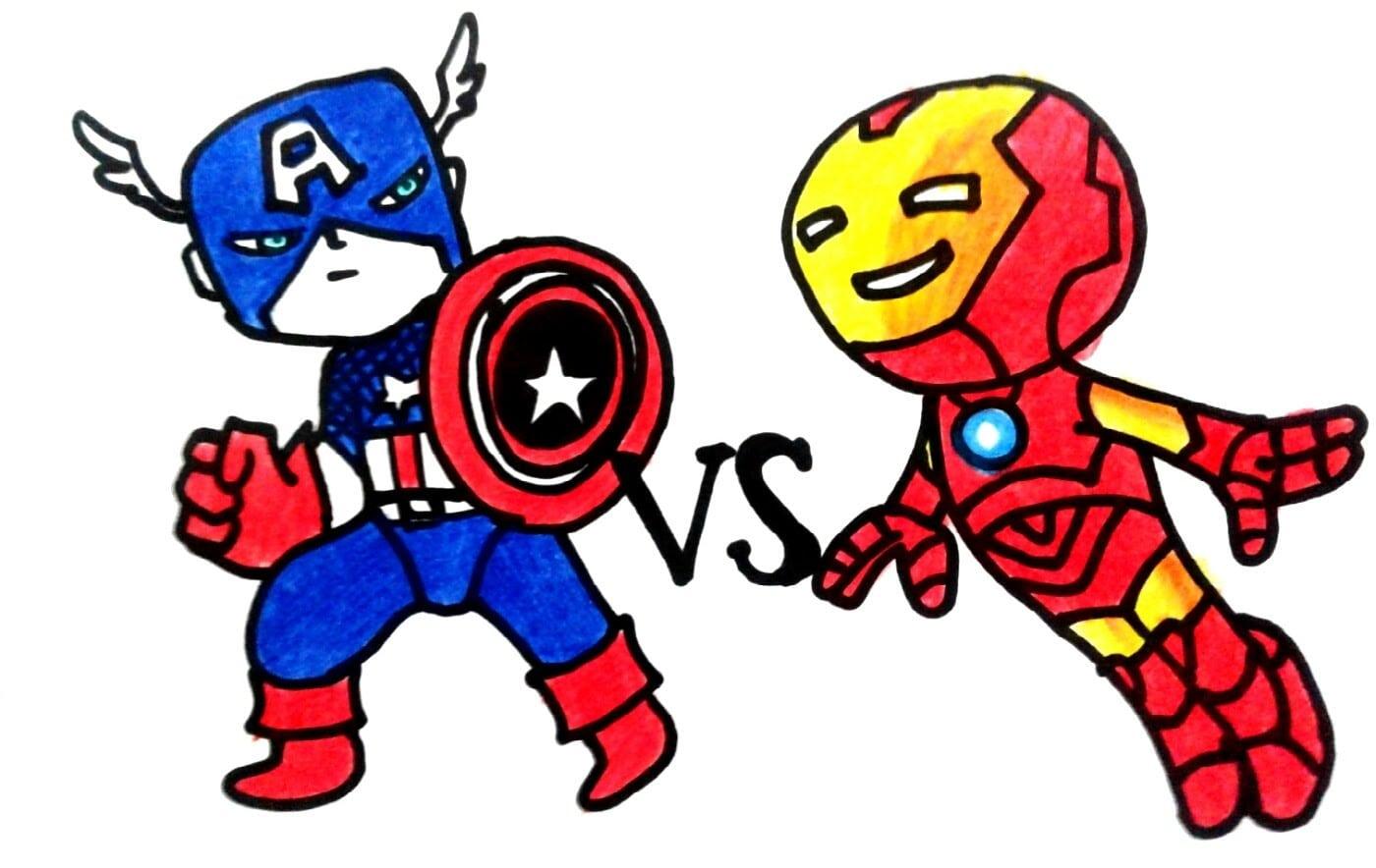 Capitão América Vs Homem De Ferro 2016