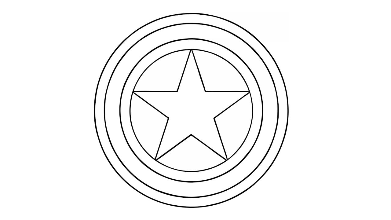 Como Desenhar O Escudo Do Capitão América (símbolo)