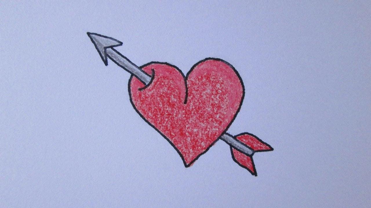 Como Desenhar Um Coração Com Flecha