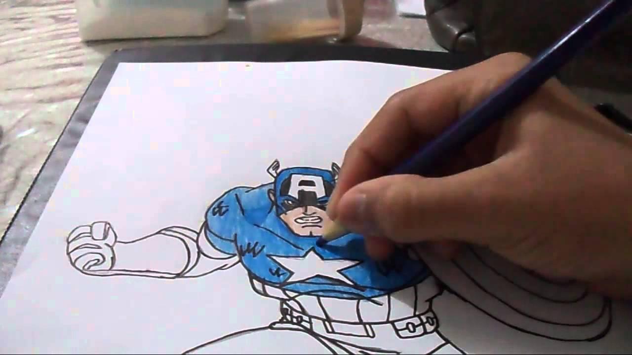 Desenhando Capitão América